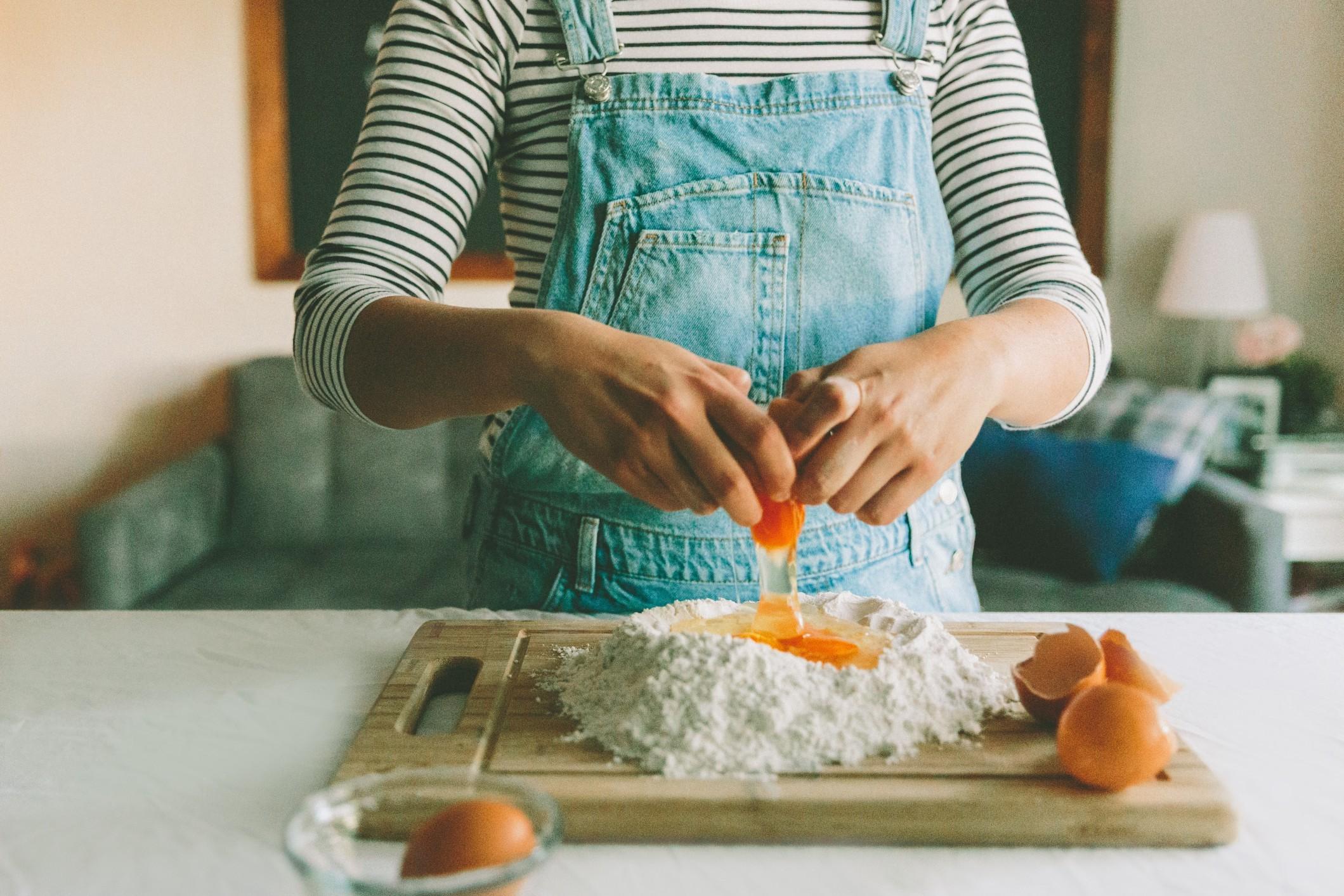 Baking in thr kitchen