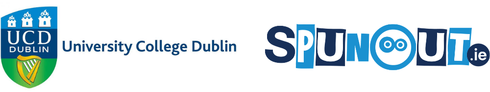 UCD and SpunOut.ie logos