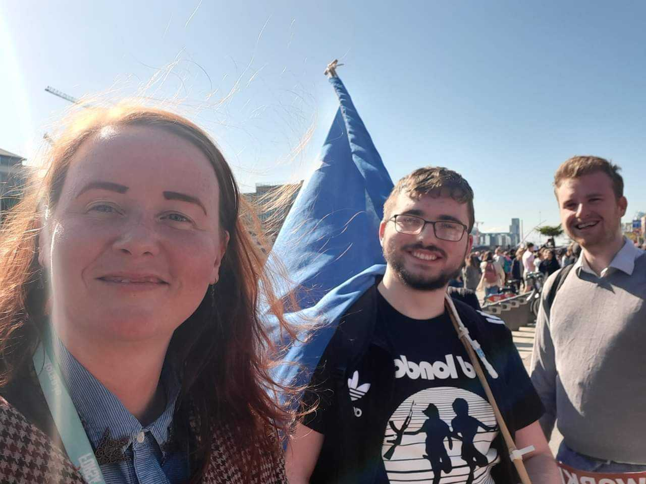Eoghan Gardiner at the Climate Strike