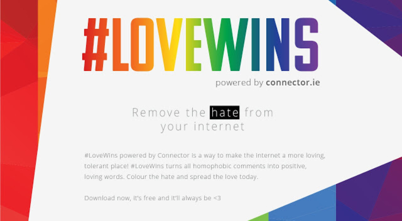 LoveWins free Google Chrome extension - SpunOut ie - Ireland's Youth
