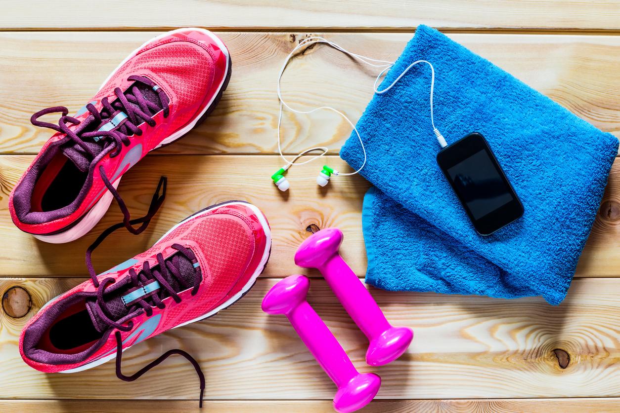 Exercise flatlay