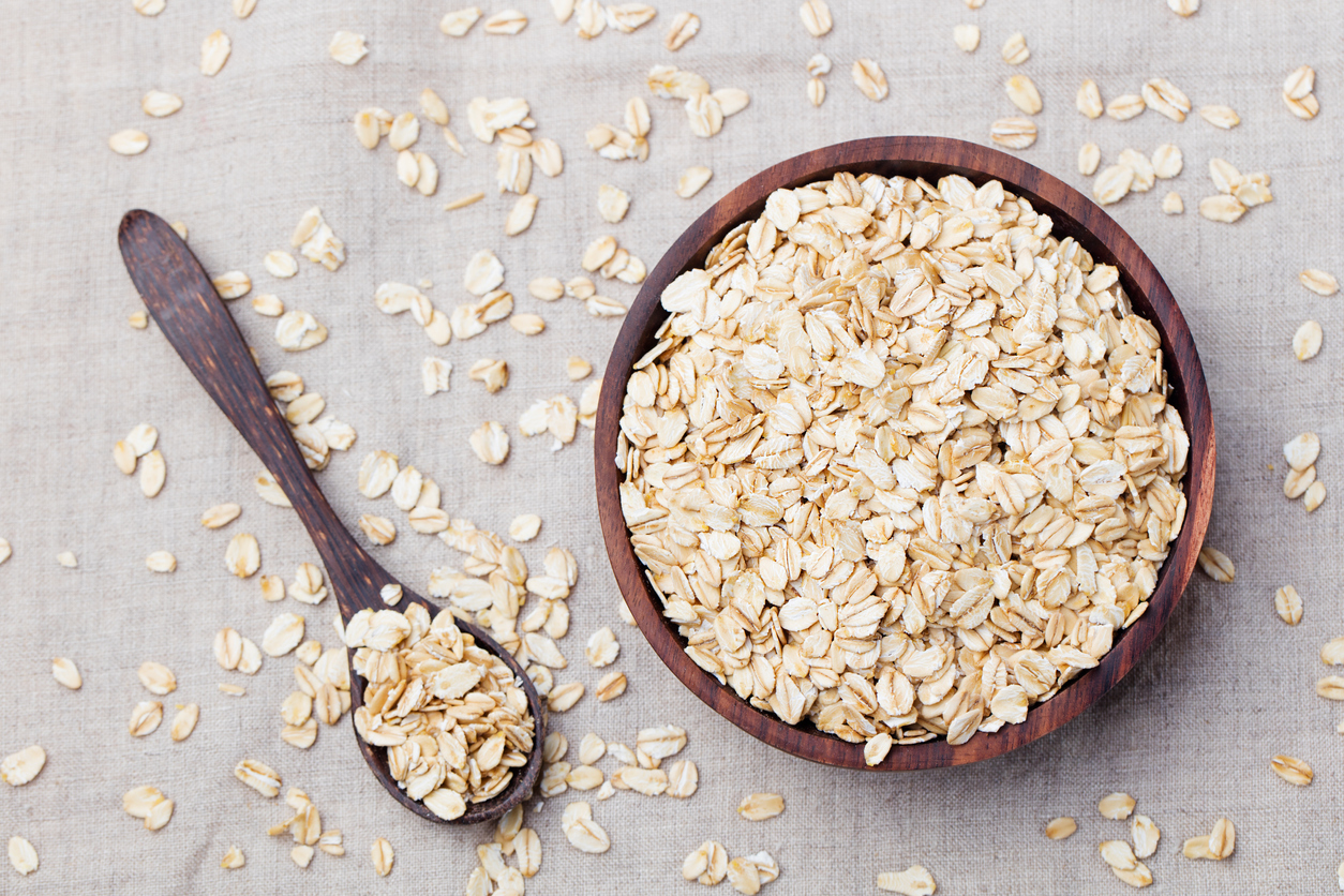 Oats with spoon