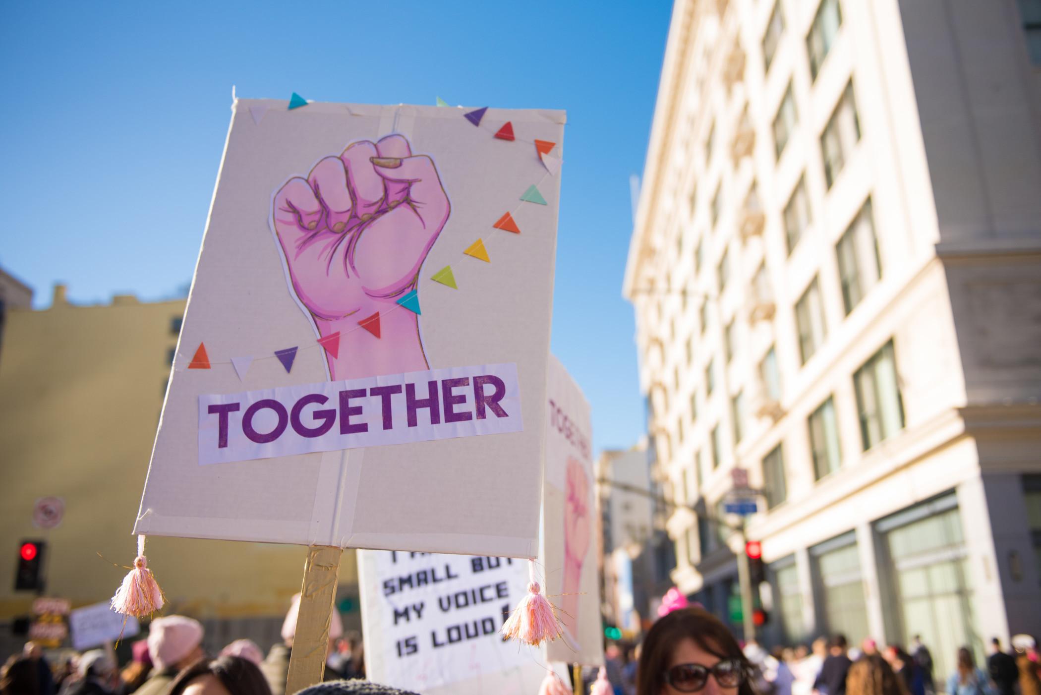 Protest poster together