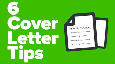 Six top tips for your cover letter