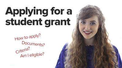 Applying for a student grant